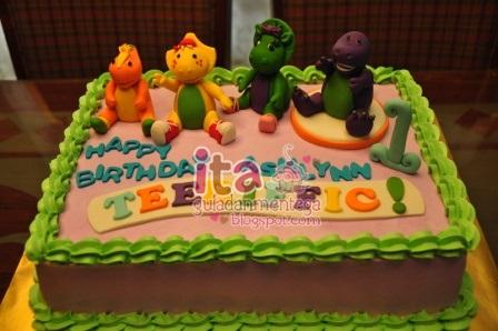 Gula Dan Mentega Birthday Cake Barney Friends