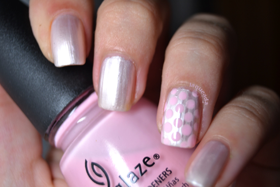 "China Glaze ""Go Go Pink"" dots"