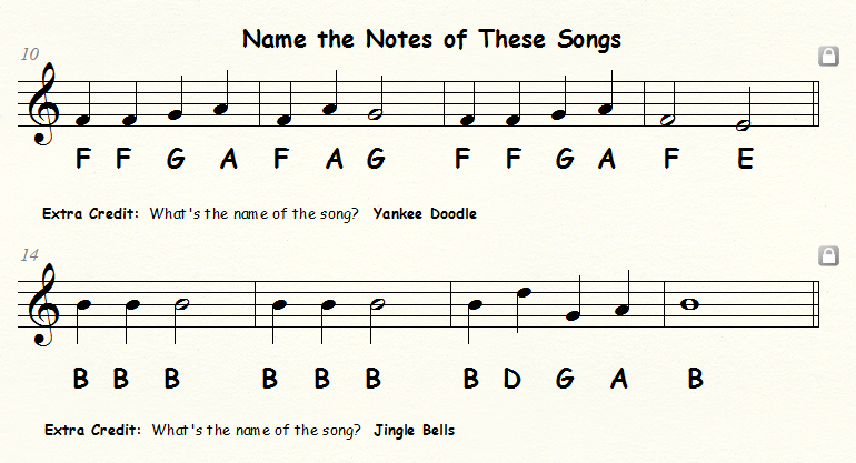 GSL Elementary Music Answers to the 5th Grade Staff Note Naming – Note Names Worksheet