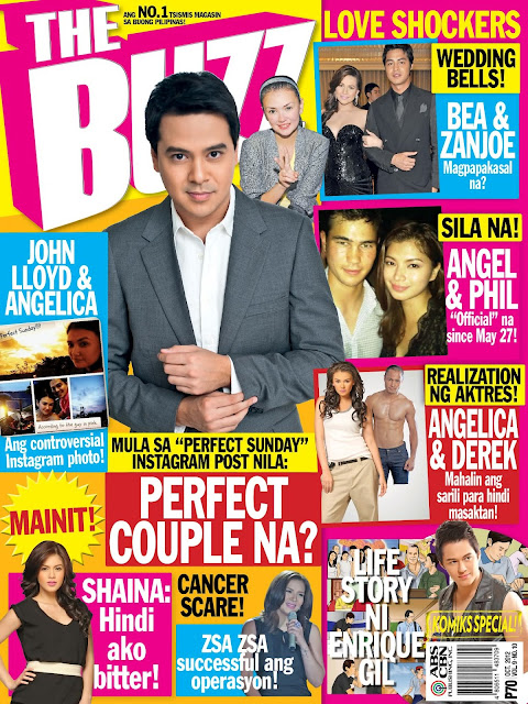 John Lloyd Cruz Covers The Buzz Magazine October 2012 Issue