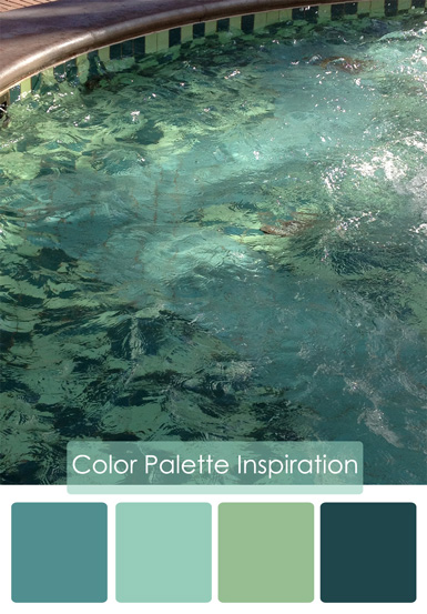 belle maison: Color Palette: Watery Blues