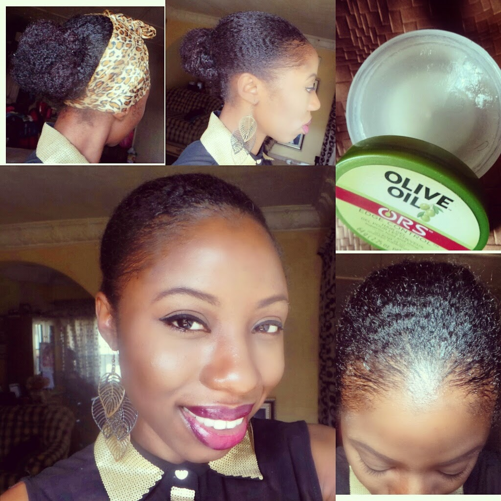 HOW TO GET SLEEK EDGES ON TYPE  NATURAL HAIR Nappilynigeriangirl - Edges hair