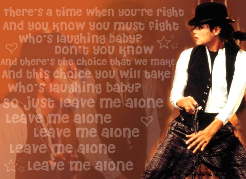 Image gallery for  leave me alone michael jackson lyrics