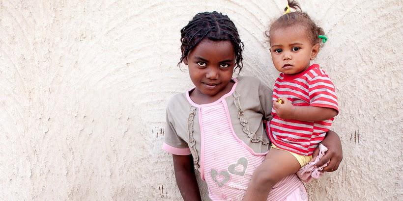 Núbiai lányok. Szoleb, Szudán.