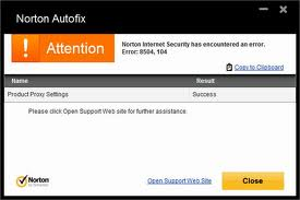 Norton Error Picture