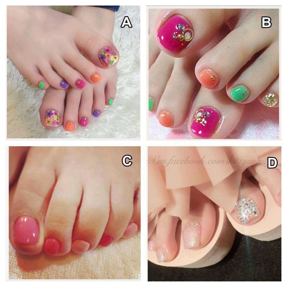 Toe Nail Art Tutorials: By DGB: Cute Pedicure Nail Art