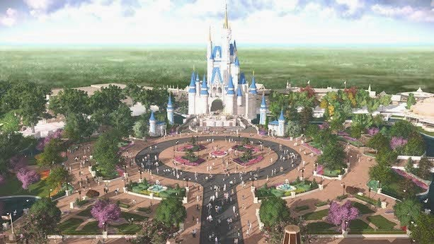 Castelo Magic Kingdom da Disney em Orlando
