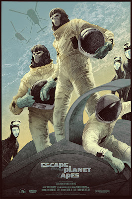 Mondo x Sideshow Collectible Planet of the Apes Screen Print Series - Escape from the Planet of the Apes by Rich Kelly