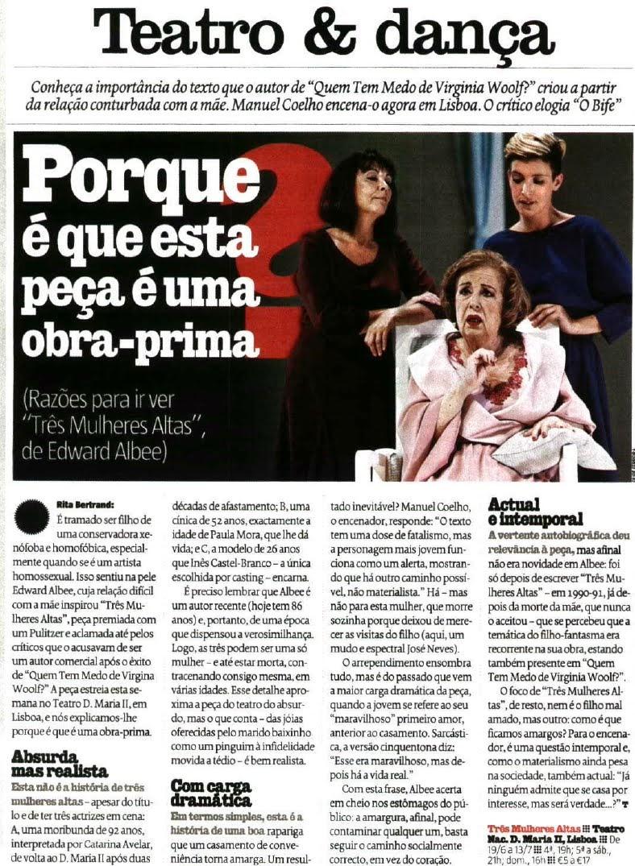 EM DESTAQUE | «Três Mulheres Altas»