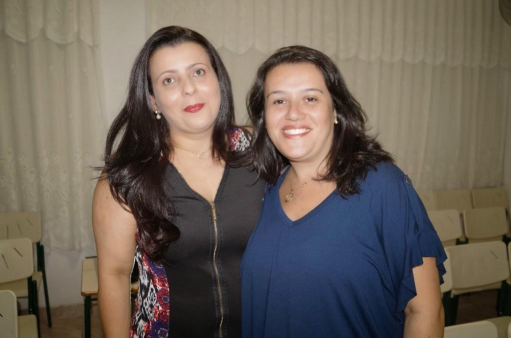 As palestrantes Gabriella Freidman e Erika Neves conversaram com os alunos da EJA Diurna nesta terça-feira, 24