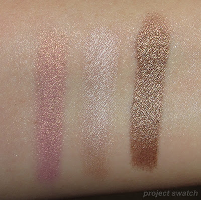 Milani Tickled Pink, Pearl, Caramel Brown - swatches