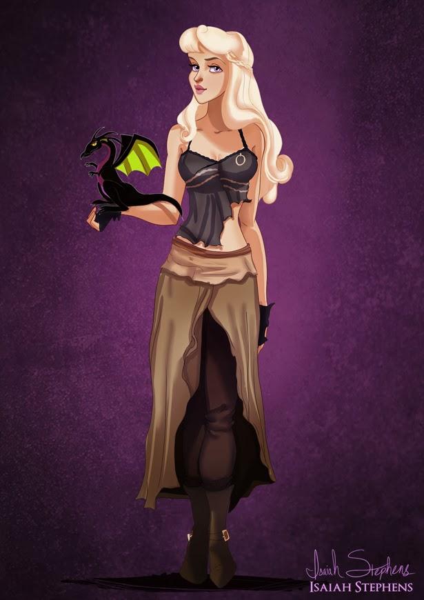 Aurora como Daenerys Targaryen