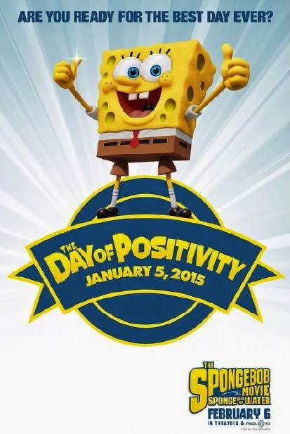 SpongeBobMovie, Day of Positivity, Monday, Movie, Sponge out of water, February, party, event, Emagine, movie theater,