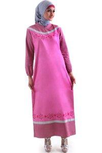 Najya Gamis J44 - Pink Fanta (Toko Jilbab dan Busana Muslimah Terbaru)