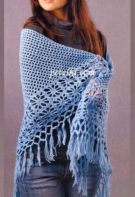 Crochet A Shawl Easy Pattern : Stylish Easy Crochet: Crochet Shawl Pattern - Classic Crochet