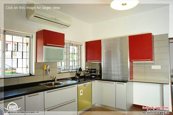 Interior Modular Kitchen Interior Design Real Photos   Kerala Home Design  And Floor Plans