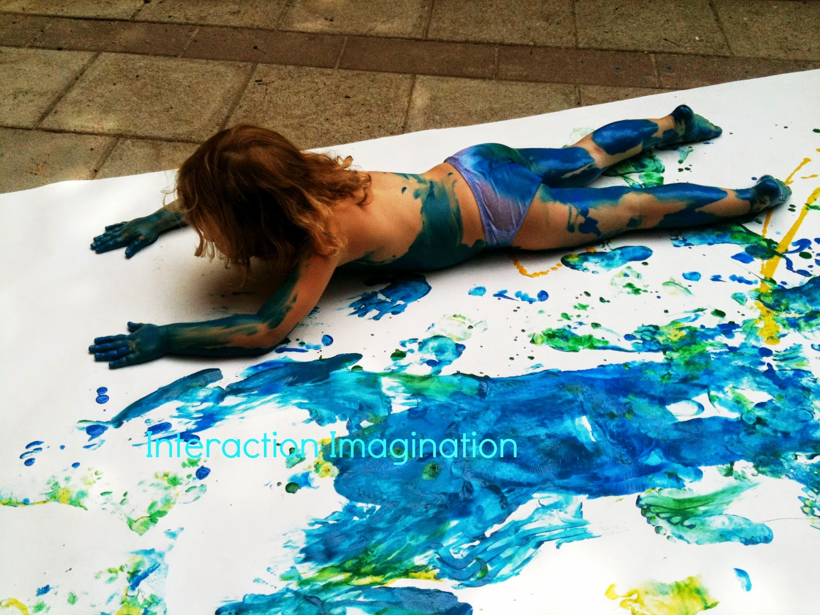 image Making body paint prints from my tits and arse