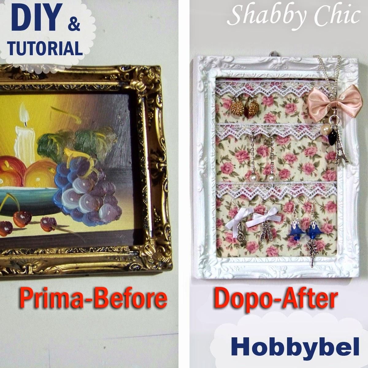 Porta orecchini espositore bijoux shabby chic tutorial diy jewels organizer riciclo - Portagioielli fai da te ...