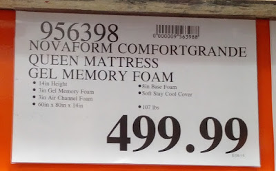 Deal for the Novaform ComfortGrande Queen 14 inch Mattress at Costco