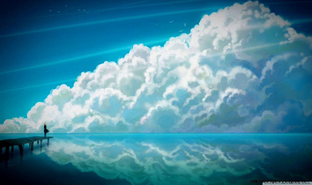 Sky Anime HD desktop wallpaper  Widescreen  Fullscreen  Mobile