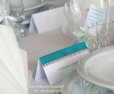 winietki kolor Tiffany Blue