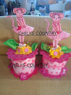 Children Parties, Angelina Ballerina centerpieces
