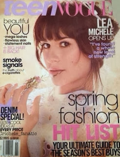 Magazine Cover : Lea Michele Magazine Photoshoot Pics on Teen Vogue Magazine March 2014 Issue