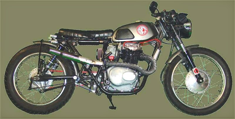 brat style motorcycle honda cb360 1976 bik nos bottle stretched extended swing arm