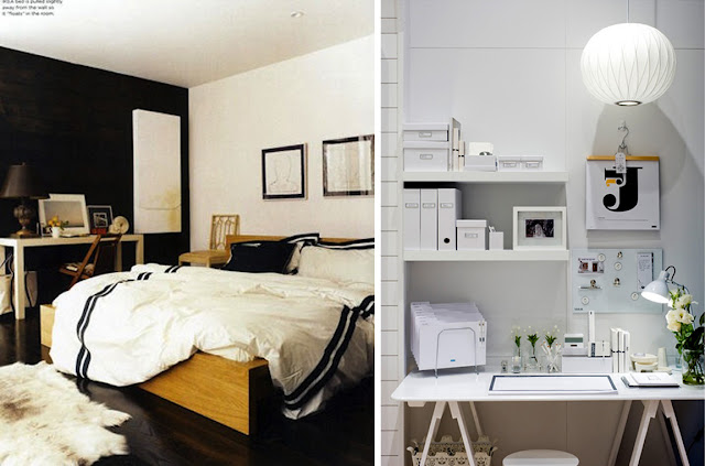 Black white yellow new apartment inspiration the for Black white yellow bedroom