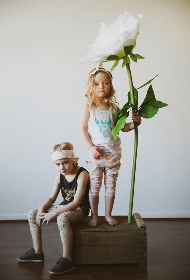 Slouch pants and Young Buck tanks for Kindred OAK SS14 kidswear collection
