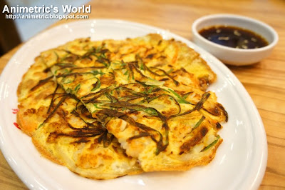 Korean Style Seafood Pancake at Yoogane