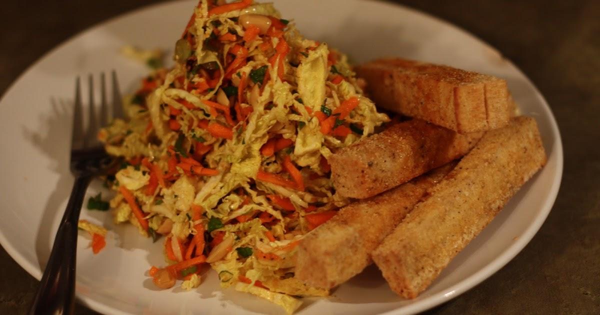 alyssa's kitchen: Warm Cabbage Salad with Crispy Tofu