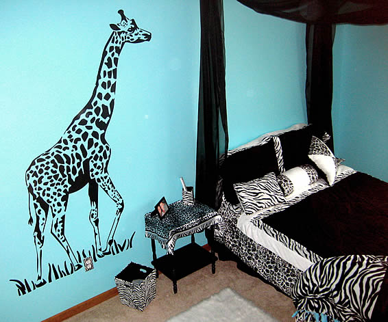 Blue And Zebra Print Bedroom Ideas Pictures To Pin On Pinterest
