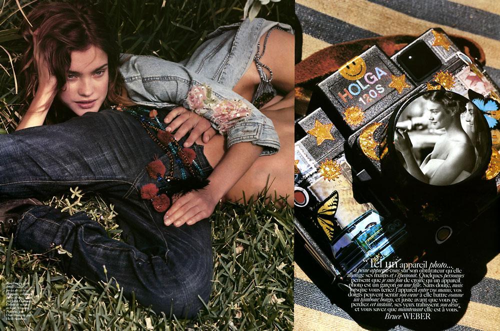 Natalia Vodianova by Bruce Weber in Vogue Paris June/July 2005