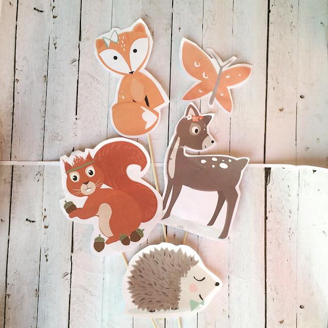props per festa a tema animaletti del bosco