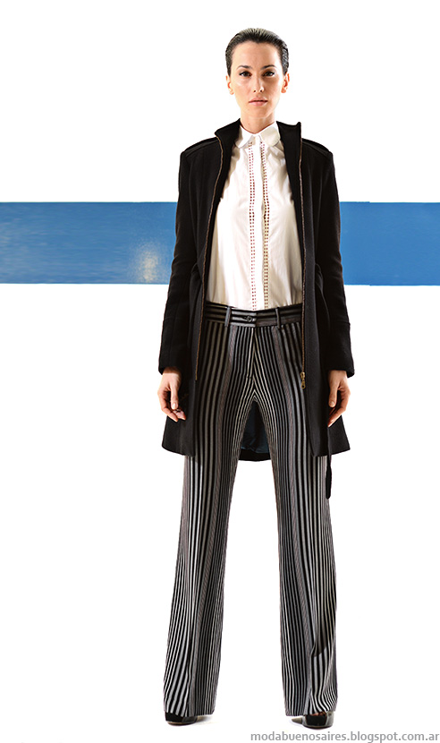Mancini otoño invierno 2014 pantalones de vestir y oxford invierno 2014 moda mujer.