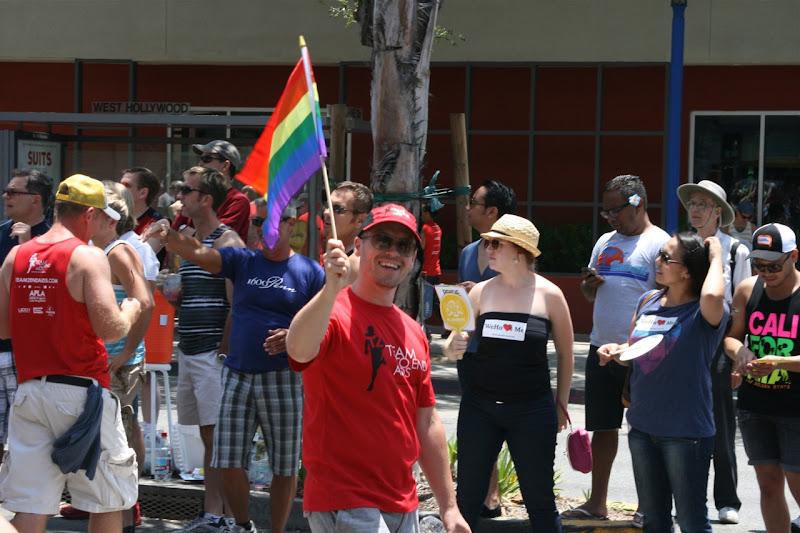 Jason in Hollywood LA Pride Parade 2012