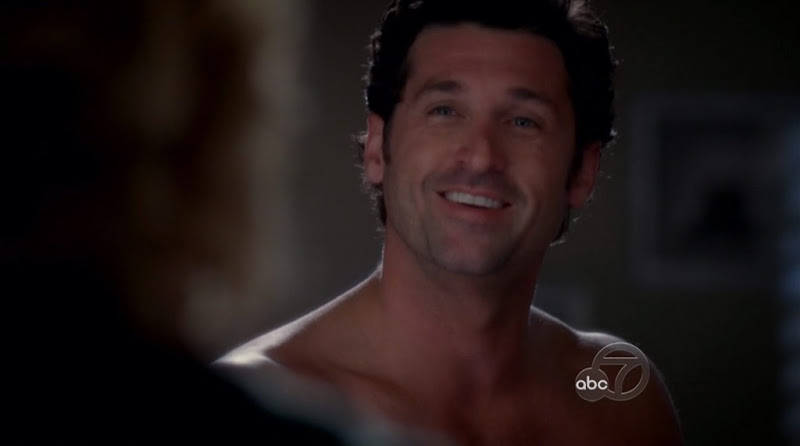 Patrick Dempsey Shirtless on Grey's Anatomy s5e04