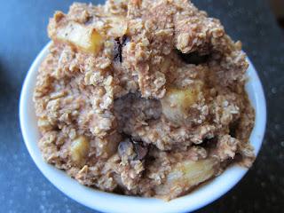 healthy banana cake baked oatmeal