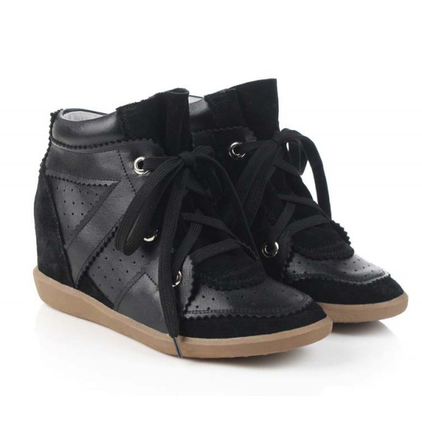 Chanel Black Wedge Shoes