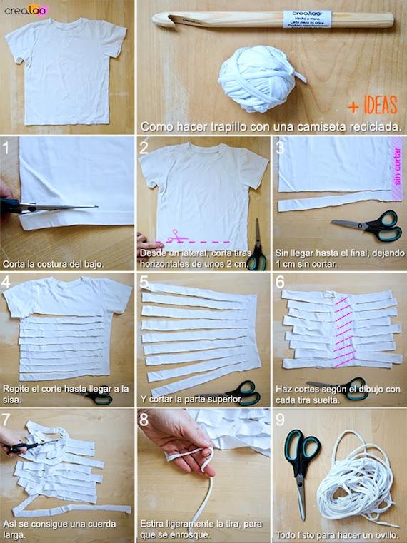 Cómo hacer trapillo con camisetas viejas
