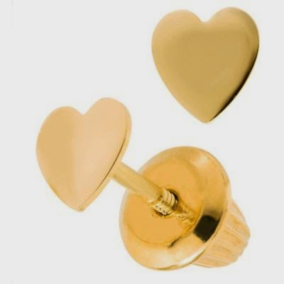 Pendientes de Oro, Corazón, Niñas