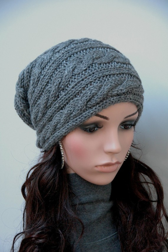 Knitted Hat Patterns For Women : free knitting pattern: womens knit beret models