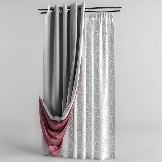 Double Sided Drapes : Curtains