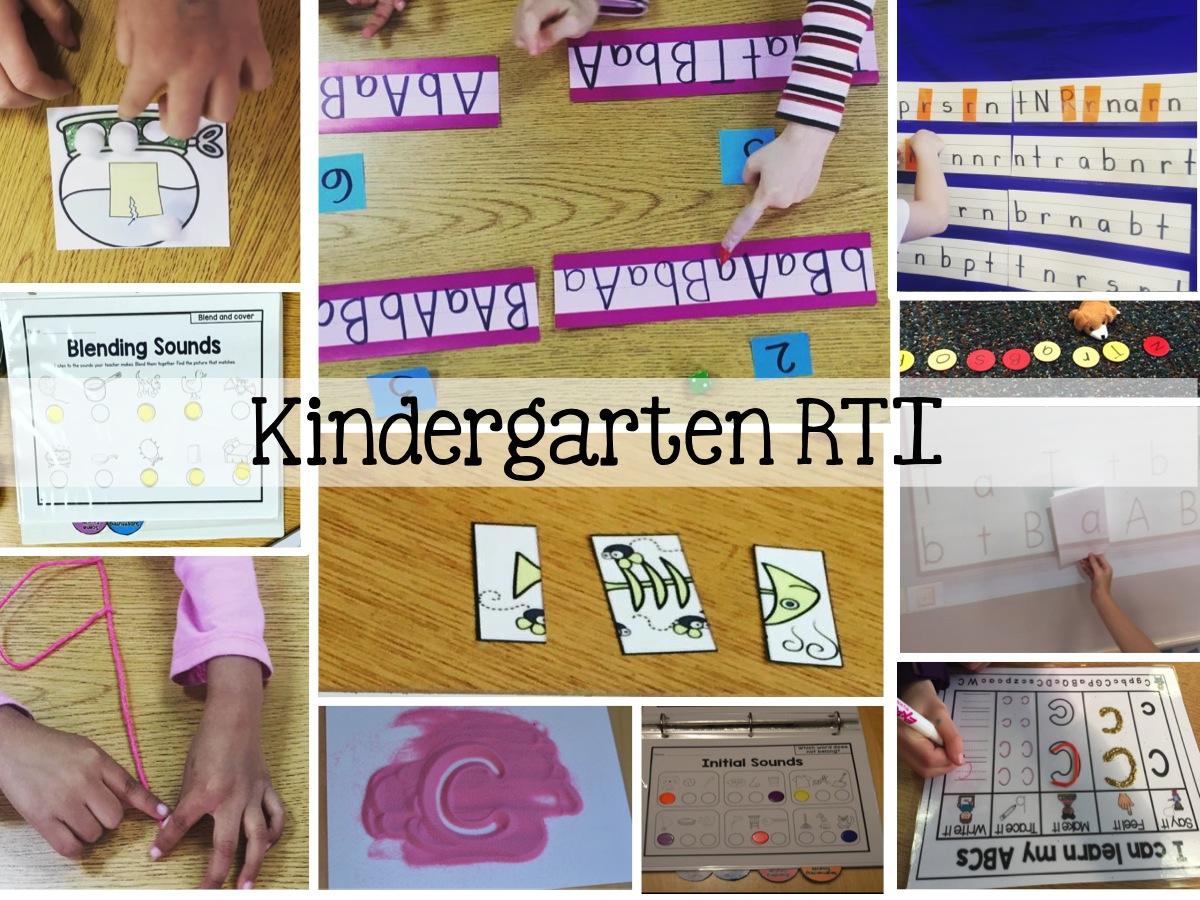 Sarahs First Grade Snippets RTI in Kindergarten ABC and – Phonemic Awareness Worksheets Kindergarten