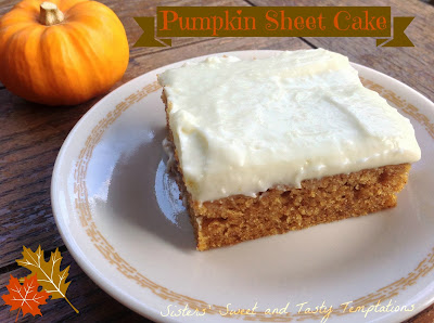 Pumpkin Sheet Cake with Whipped Cream Cheese Frosting