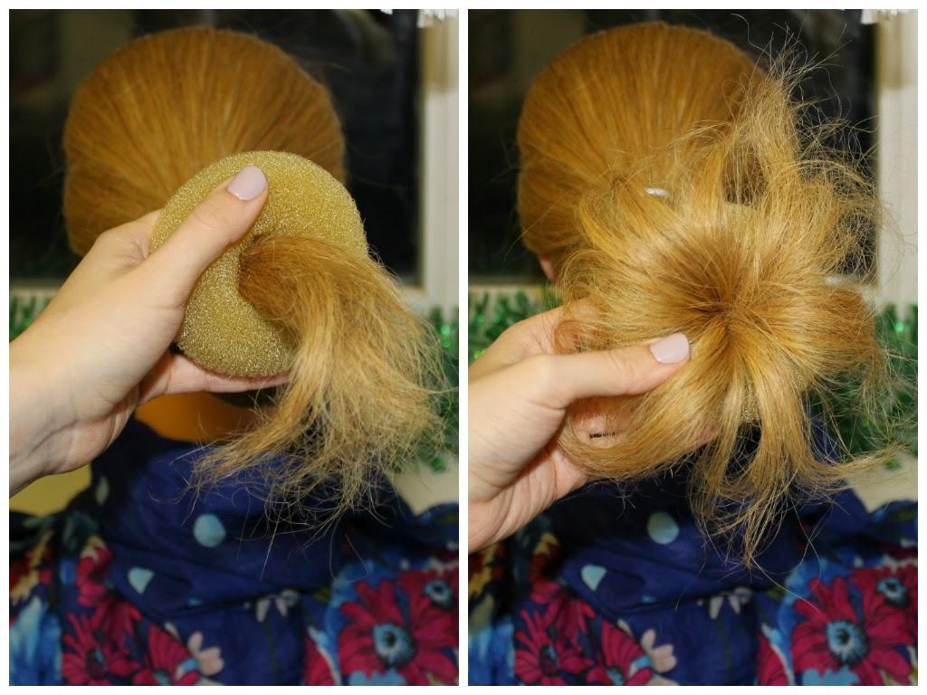 Как из поролона сделать бублик для волос