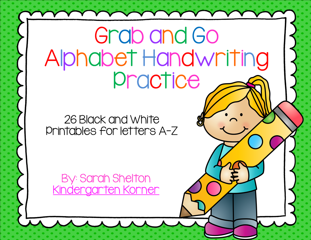 http://www.teacherspayteachers.com/Product/Alphabet-Handwriting-Practice-256223
