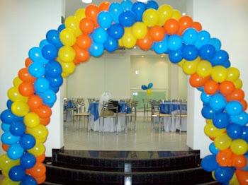 Arco de balões galinha pintadinha