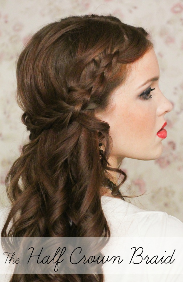 curly fade hairstyle : The Freckled Fox: Holiday Hair Week: The Half Crown Braid
